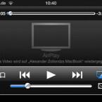 Wie üblich, wählt man auf dem iOS-Gerät den AirPlay-Empfänger per Fingertipp aus. (Bild: Screenshot)