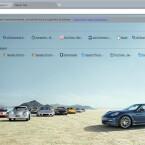 Der Autohersteller Porsche bietet ein eigenes Design für Google Chrome. (Bild: Netzwelt)