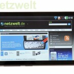 Webseiten lassen sich dank dem 4 Zoll großen Display äußerst komfortable betrachten. (Bild: netzwelt)