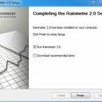"""Damit Sie anschließend Omnimo installaieren können, muss Rainmeter einmal gestartet worden sein. Belassen Sie den Haken und klicken Sie auf """"Finish"""". (Bild: Screenshot)"""