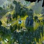 Unterwegs in den Bergen auf einer Abenteuerkarte.