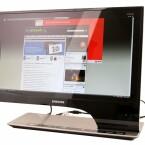 Schöner, großer PC-Bildschirm.