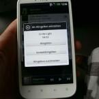 Das Sensation XL ermöglicht es aus der Musik-App MP3-Klingeltöne selbst zu schneiden. (Bild: netzwelt)