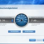 Über den webbasierten Einstellungsdienst steht ein Werkzeug zum Messen des Tempos der Internetleitung zur Verfügung. (Bild: netzwelt)