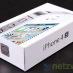 Alter Karton neuer Inhalt: Optisch unterscheidet sich das iPhone 4S nicht vom iPhone - auch nicht die Verpackung.