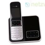 Das DECT-Telefon wird mit Basis- und Mobilteil ausgeliefert. Anschlusskabel und Netzgerät gehören ebenfalls zur Ausstattung. (Bild: netzwelt)