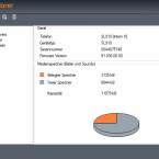 Die Darstellung der Kapazität in QuickSync stiftet Verwirrung: Das Telefon verfügt nur über einen 3,5 Megabyte großen Speicher für den Upload von Dateien. (Bild: Screenshot)
