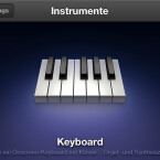 Das Keyboard in GarageBand auf dem iPhone. (Bild: netzwelt)