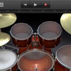 Per Fingertipp Schlagzeug spielen - kleine, große Trommel, Becken, TomTom inklusive. (Bild: netzwelt)