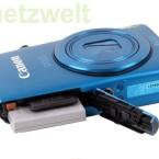 In der Kamera steckt wie in vielen anderem ein Lithium-Ionen-Akku und eine SD-, SDHCC oder SDXC-Karte als Datenspeicher.