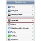 """Im Folgebildschirm auf """"Allgemein"""". (Bild: netzwelt)"""
