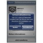 """Ihr iOS-Gerät schaltet sich nach Ablauf des Countdown automatisch aus, sofern Sie nicht schon vorher auf """"Installieren"""" drücken. (Bild: netzwelt)"""