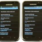 Als Betriebssystem kommt beim Galaxy S Plus (rechts) bereits ab Werk Android 2.3 zum Einsatz. (Bild: netzwelt)