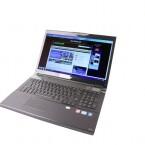 Das Gaming--Notebook verfügt über einen 17,3 Zoll großen Bildschirm mit Full-HD-Auflösung.