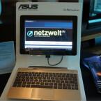 Bereits auf der CES hatte Asus mit dem TF700T einen Nachfolger für das Transformer Prime gezeigt. (Bild: netzwelt)