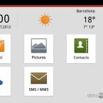 Die Doro Experience genannte Nutzeroberfläche bietet Doro nicht nur für Smartphones, sondern auch für Tablets an. (Bild: Doro)