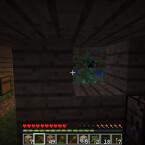 Wieder an die Oberfläche gelangt, sind wir mitten in der Nacht. Die gefährlichen Creeper sind vor dem Fenster. (Bild: netzwelt)