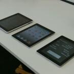 Von links nach rechts: Apple iPad, Apple iPad 2, Apples neues iPad. (Bild: netzwelt)
