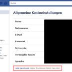 Die Möglichkeit eine Kopie der eigenen Daten herunterzuladen, finden Nutzer in den Kontoeinstellungen bei Facebook. (Bild: Screenshot Facebook.com; Montage: netzwelt)