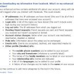 Diese Daten sind in dem erweiterten Archiv enthalten. (Bild: Screenshot Facebook.com)