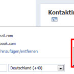 Hier kann dann einfach ausgewählt werden, ob die E-Mail-Adresse in der Chronik angezeigt oder verborgen werden soll. (Bild: netzwelt)