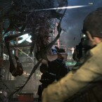 Chris bekämpft eine abscheuliche Mutation. (Bild: Capcom)