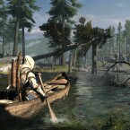 Connor unterwegs mit dem Kanu. (Bild: Ubisoft)