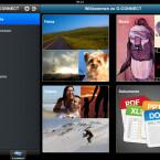 Der Startbildschirm der iPad-App im Querformat. (Bild: netzwelt)