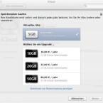 Backups per iCloud gehen zu Lasten des freien Speicherplatzes von 5 Gigabyte. Wer mehr will, zahlt 16 Euro pro Jahr für 15 Gigabyte. (Bild: Screenshot)