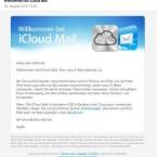 Nach Einrichtung einer iCloud E-Mail-Adresse sendet Apple eine E-Mail mit der Bestätigung an den Absender. (Bild: Screenshot)