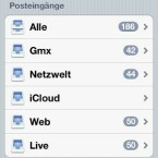 ...dann steht in der Mail-App der Zugriff auf das iCloud-Postfach zur Verfügung. (Bild: Screenshot)