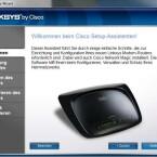 Cisco liefert eine Setup-Software für Windows und Mac mit, die unsere Testkonfiguration aber nicht erkannte. (Bild: Screenshot)