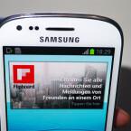 Verändert hat Samsung unter anderem die Position der Frontkamera. (Bild: netzwelt)
