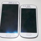 Größenvergleich: Das Galaxy S3 (links) gegen das Galaxy S3 Mini.
