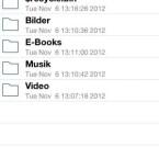 Die App listet die erstellten Ordner übersichtlich auf. (Bild. netzwelt)