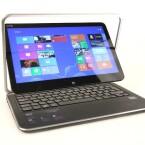<b>Dell XPS 12</b><br /> Leider lässt sich die durch Gorilla-Glas geschützte Tablet-Einheit nicht vollständig aus dem Rahmen lösen und autonom nutzen. (Bild: netzwelt)