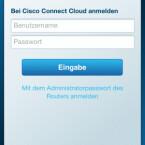 Auch per Smartphone oder Tablet kann man auf den Router zugreifen. Die Cisco Connect Cloud-App ist gratis für iOS und Android erhältlich. (Bild: Screenshot)
