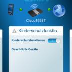 Die App unterstützt wesentliche Einstellungsparameter, etwa Kinderschutz. Leider kann man nicht auf USB-Freigaben zugreifen. (Bild: Screenshot)