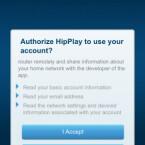 Die iOS-App HipPlay ist gratis zu haben und ergänzt die Cisco Connect Cloud-Software. Dafür muss man dem Programm aber den Zugriff auf Router-Informationen erlauben. (Bild: Screenshot)