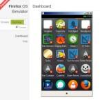 Mit einem Fingerwisch nach rechts gelangt der Nutzer in den App Launcher. Presst er den Finger länger auf ein Icon kann er Icons verschieben oder... (Bild: Screenshot Firefox OS Simulator)