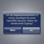 Der Netgear R6300 unterstützt auch Kinderschutz-Funktionen. Dafür muss aber erst ein OpenDNS-Zugang angelegt werden. (Bild: Screenshot)