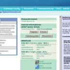 Nicht gerade übersichtlich: Die Startseite der Web-GUI liefert Statusinformationen und dient dem Schnellzugriff auf Funktionen. (Bild: Screenshot)