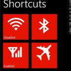 Mit der App ConnectivityShortcuts haben Nutzer schnellen Zugriff auf Einstellungen wie WLAN, Bluetooth und Co. (Bild: windowsphone.com)