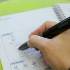 Ohne das spezielle Livescribe-Papier lässt sich der Stift nicht zum Digitalisieren von Notizen nutzen. (Bild: netzwelt)