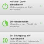 In der App stehen Anweisungen zur Verfügung, die man den Geräten geben kann. (Bild: Screenshot)