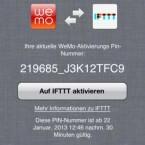 """Der Dienst """"If This Then That"""" erweitert den Spielraum der Heimsteuerung. Die Geräte müssen aber per PIN-Code zunächst angemeldet werden. (Bild: Screenshot)"""