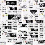 Die meisten Bilder werden in schachbrettartigen Mustern angeordnet und ausgestellt. (Bild: Patrick Ruckdeschel/Kunstbunker Nürnberg)