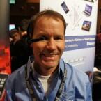 Sieht so die Zukunft aus? Datenbrille M100 von Vuzix auf dem MWC in Barcelona. (Bild: netzwelt)
