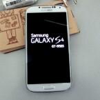 Das Galaxy S4 bootet und stellt sich als GT-I9505 vor. (Bild: netzwelt)