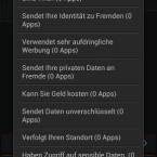 Der Nutzer kann sich die Apps sortiert nach dem jeweiligen Sicherheitsrisiko anzeigen lassen. (Bild: Bitdefender)
